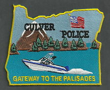 CULVER OREGON POLICE PATCH SPEED BOAT STATE SHAPED