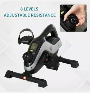 HOMCOM Mini Exercise Bike 8 Levels Magnetic Resistance Leg Fitness LCD Display
