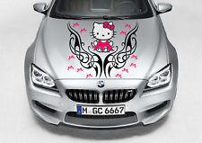 HELLO KITTY TRIBAL DRESS GIRL CUTE SWIRL DECAL VINYL GRAPHIC HOOD CAR TRUCK