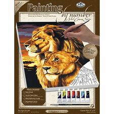Royal & Langnickel Painting by Numbers Small Canvas Painting, Lion and Lioness