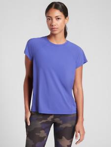 ATHLETA Ultimate Train Tee M MEDIUM Merlin Blue | Workout Shirt Running Top NWT