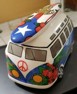 Ceramic Volkswagen wagon Piggy Bank -- Puerto Rico
