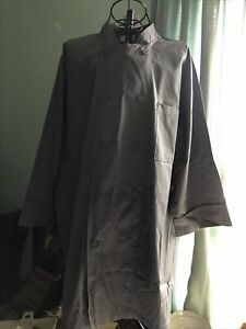 Chef Works Mens Morocco Short Sleeve Chef Coat, Gray, Large