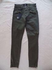 New Paige Daryn Zip Ankle Olive Leaf Size 24 Skinny Jeans