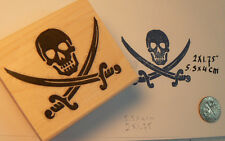 Pirate insignia  rubber stamp  WM P41