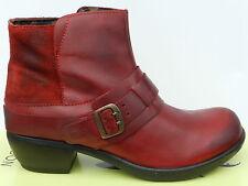 Fly London Mont Chaussures Femme 41 Bottines Rouge Bottes Montantes Mel UK8 Neuf