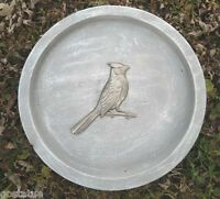 Cardinal birdbath mold concrete plaster mould