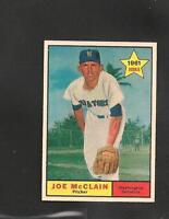 2855* 1961 Topps # 488 Joe McClain NM-MT
