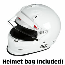Bell GP3  Auto Racing Helmet  White 7- 5/8 SA2015    +IN STOCK, SHIPS NOW+