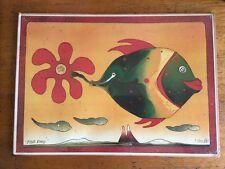 Colourful 'fish Daisy' Print 2/100 Walter Kunz Hippy Boho Abstract Original
