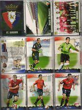 27 fichas del Osasuna Mundicromo Fichas de la liga 2008-2009