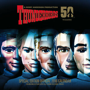 THUNDERBIRDS CLASSIC 2016 CALENDAR - New & Sealed. Out of print.  9781780548739