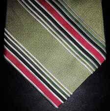 Express Tie Silk Lt Green Pink White Green Diagonal Stripe NIB t3286