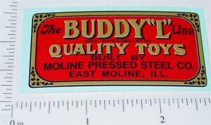 Buddy L Pre-War Floor Plate Replacement Sticker BL-127