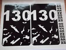 LAND ROVER DEFENDER 130  Body panel bonnet Door Sticker SET
