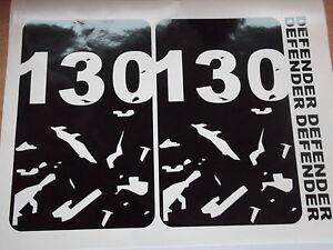 DEFENDER 130  Body panel bonnet Door Sticker SET