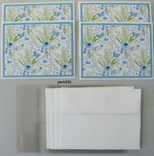 Handmade Greeting Cards Note Cards Flowers Blank 4 Stitched Envelopes pack890