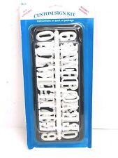 Nos! Creative Plastics Custom Sign Kit, Sk-6, Black w/ White Letters