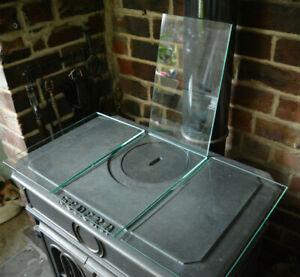 "1 Tempered Glass Toughened Dishwasher Safe Shelf Kitchen Sideboard 14.5"" x8 3/4"""