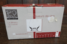 Pair of Peugeot French Whisky Glasses - Les Universels - BNIB with Paperwork