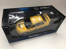 1/18 AUTOART MITSUBISHI LANCER EVOLUTION VII 7 YELLOW 77161  RARE SCARCE !