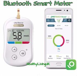 OneTouch Verio Flex Blood Glucose Meter/Monitor - Wireless/Bluetooth - RRP £80