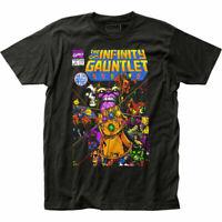 Thanos The Infinity Gauntlet T Shirt Mens Licensed Marvel Avengers Endgame Black