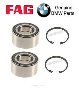 For BMW E83 X3 2004-2010 Set of Two Front Wheel Bearings & Two Snep Rings OEM