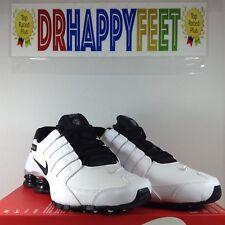 Nike Shox NZ Premium Mens Size 11.5 Running Sneaker Black White Grey 536184 100