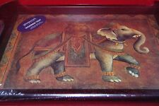 Elephant Expedition wooden Tray . Pimpernel  Art for the table