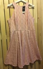 BNWT NEXT ivory pink floral daisy lace dress Size 16 party wedding summer 1950s
