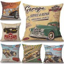 Retro Vintage Cars Cushion Cover Pillow Case Cotton Linen Home Decor