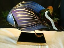 """OGGETTI ITALY PORCELAIN FISH SCULPTURE~LARGE 17"""" On Stand"""