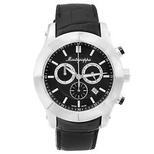 Montegrappa Nero Uno Chronograph Men's Swiss Made Watch IDNUWA00  Italian Brand