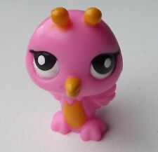 Littlest Pet Shop LPS Bird Hot Pink Fairy Antennae Tiny Small Orange Tummy Beak