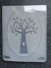 Sizzix cartella goffratura grande albero genealogico della famiglia cuore foglie di frontiera GRATIS P&P