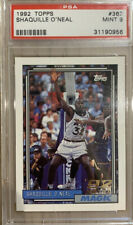 1992 topps shaquille o'neal psa 9