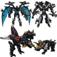 Transformation Autobots Dinobots Dark OP Grimlock Scorn Slug Snarl Metal Robot