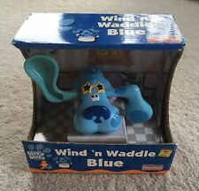 Blues Clues Wind N Waddle Blue Wind-Up Toy 2000 Fisher Price New Old Stock