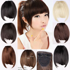 Bangs straight synthetic short adult hair extensions ebay clip in bangs fake hair extension false hair piece clip on front neat bang lk pmusecretfo Choice Image
