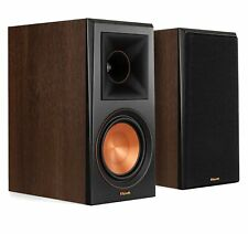 Klipsch RP-600M Walnut Vinyl Bookshelf Speaker Pair (Damaged Box)