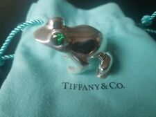 Rhinestone Eyes Rare RiBbiT 77gms Tiffany Frog Solid Sterling Silver Paperweight