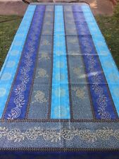 Table Cloth PREMIUM RANGE (Hand printed Indian Cotton) 150cm x 220cm gold prints