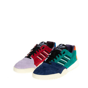 ADIDAS Suede Leather Sneakers Size 41 1/3 UK 7.5 US 8 Multicoloured Perforated
