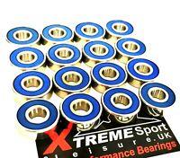 16 Pack 627 2rs Xtreme CLASSIC SEALED ROLLER SKATE-BLADE BEARINGS UK SELLER