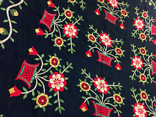 Bold needle turn Hand Applique Woven Basket Finished Quilt