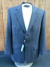Mens Gene Meyer Made in Italy  Wool Suit sz 40 R blazer blue window pain