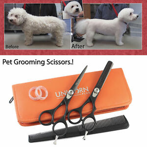 New Professional Pet Dog Grooming Scissors Cutting &Thinning Shears Set Scissors