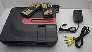 SHARP TWIN FAMICOM Console System AN-500B Black Working New Belt Disk Tested