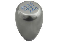 CHROME T1 BLUE 6 speed GEAR SHIFT KNOB for MAZDA 3 6 MX5 RX8 MIATA